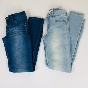 Bundle of skinny jeans size 1 EUC garage & ymi